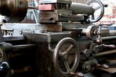 Detail of an old lathe in the Technik Museum Magdeburg — Stock Photo