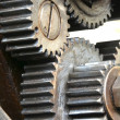 Stock Photo: Gears of old machine