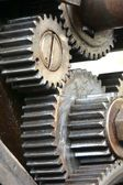 Gears of an old machine — Stock Photo