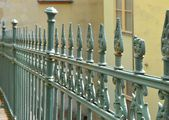Old fence in the old town of Karlovy Vary — Stock Photo
