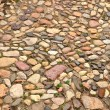 Cobblestones in the old town of Quedlinburg — Stock Photo