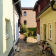 Old alley in the Old Town of Quedlinburg — Stock Photo