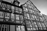Historic half-timbered houses in Hanover — Stock Photo