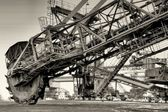 Excavator in the disused opencast Ferropolis — Foto Stock