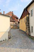 Beco em quedlinburg — Fotografia Stock