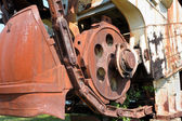 Detail of a excavator — Stock Photo