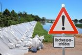 Flood in Magdeburg — Stock Photo