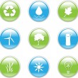 Royalty-Free Stock Vectorafbeeldingen: Eco Friendly Iconset