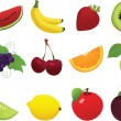 Fruit Icon and Cliparts Set — Stock Vector