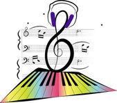 Ilustración de la música — Vector de stock