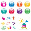 Kids Iconset & Cliparts - Stock Vector