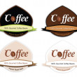 Royalty-Free Stock Vectorielle: Coffee Logo Set
