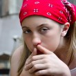 Depressed adolescent girl — Stock Photo
