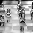 Stock Photo: Glass Chess Board - Black and White