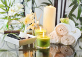 Spa Candles & Oil — Stok fotoğraf
