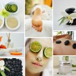 Spa Massage Facial Collage — Stock Photo