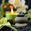 Spa Rocks & Candles — Stock Photo