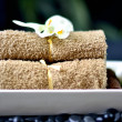 Spa Towels & Rocks — Stock Photo
