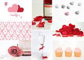 Walentynki kolaż — Zdjęcie stockowe