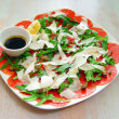 Foto Stock: Fish salad and verdure