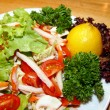 Salad with vegetable and crab - Stock Photo
