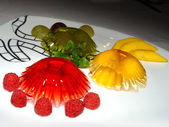 Luminous fruit jelly — Stock Photo