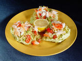 Salad with seafoods — Stock Photo