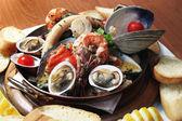 Seafood dish — Stock Photo