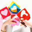 Valentine color card — Stock Photo