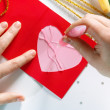Stock Photo: Valentine color card