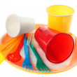 Plastic dishware set — Stock Photo #22290749