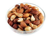 Nut mix in plate — Stock Photo