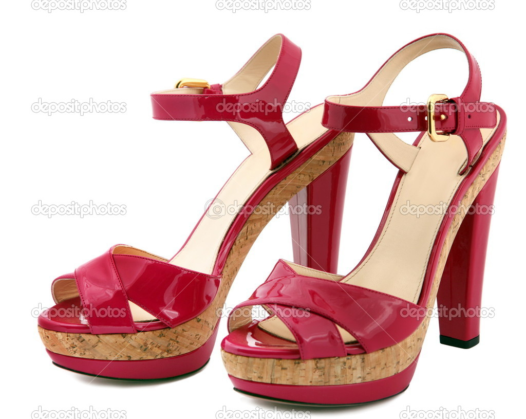 Woman shoes - Stock Image