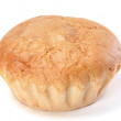 Stock Photo: White bread round loaf