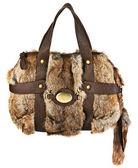 Woman fur bag — Stock Photo