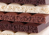 Aerated choocolate closeup — Stock Photo