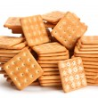 Salt square crackers — Stock Photo