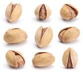 Dry salted pistachio set — Stock Photo