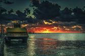 Ferry Suinrise — Stock Photo