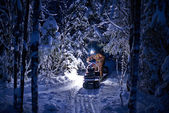 A man on snowmobile. — Stock Photo