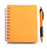 Orange stationery style — Stock Photo
