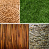 Collection of textures backgrounds — Stock Photo