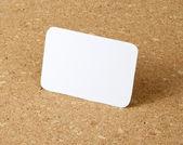 Pocket size calendar card on corkboard background. — Stock Photo