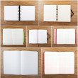 Set of color open notebook — Stock Photo #49643965