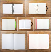 Set of color open notebook — Stock Photo