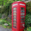 British phonebox in greenery — Stock Photo #22157333