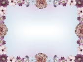 Floral frame and color gradient copy space — Stock Photo