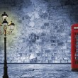 Постер, плакат: Night scenery in the London street