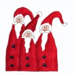 Three santa claus, childrens painting — Stock Photo
