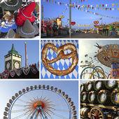 Collage - bavarian oktoberfest munich — Stock Photo